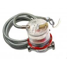 """Счетчик горячей воды ETW-I-N-AM 90°C, DN 15 ,Qn 1,5 L-80 mm, G3/4""""B с  металлоруковом"""