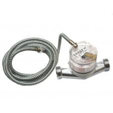 """Счетчик горячей воды ETW-I-N-AM 90°C, DN 20 ,Qn 2,5 L-130 mm, G1""""B c металлоруковом"""