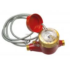 Счетчик горячей воды MTW-I 90°С, Dn 15 , Qn 1,5 L 165 mm с металлоруковом