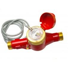 Счетчик горячей воды MTW-I 90°С, Dn 40 , Qn10  L 300 mm с металлоруковом